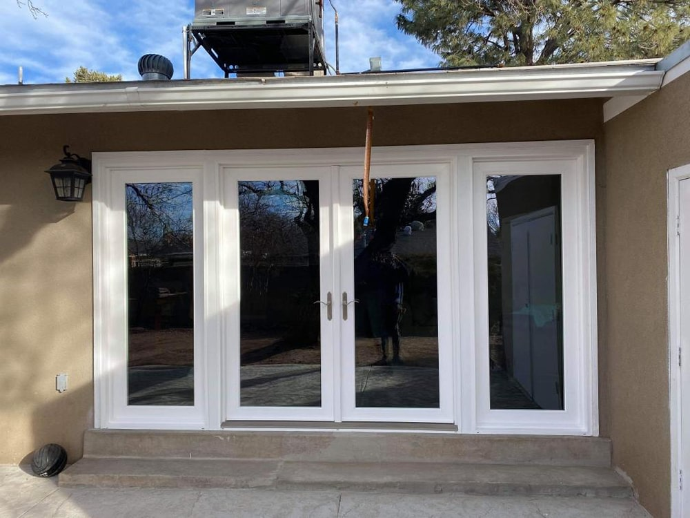 swinging patio doors installation 7
