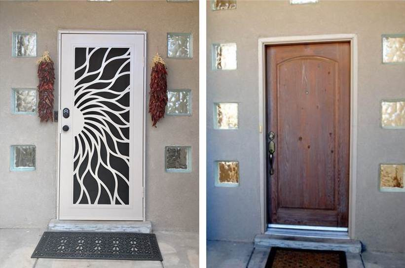 image of a titan door installation before and after
