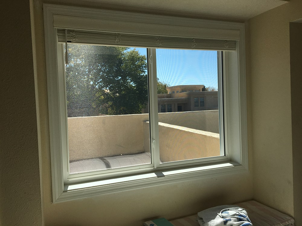 sliding window install in a adobe home