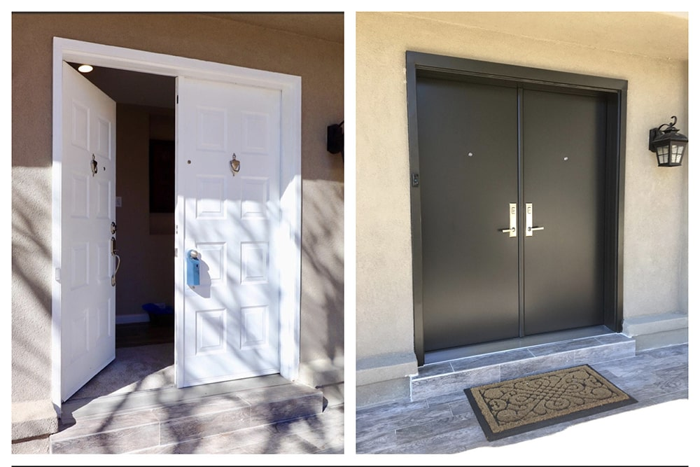 Swinging Door installation 9