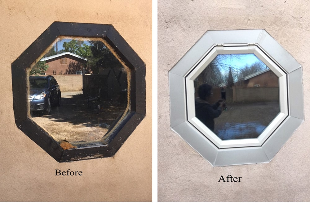 Octagon special shape window install