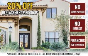 image for 20% off replacement windows